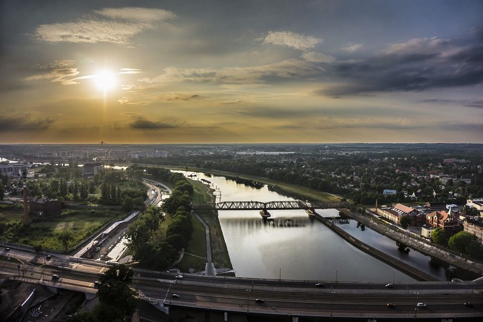 panorama Wrocławia - miasto