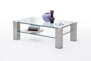 szklany stolik kawowy biały