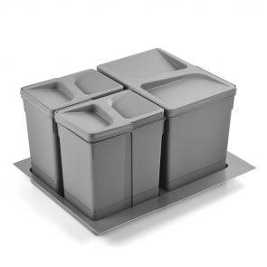zestaw koszy do segregacji śmieci